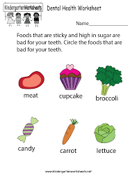 dental health worksheet free kindergarten learning worksheet for