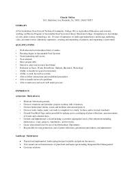 Currently Working Resume Format Horticulture Resume Horticulture Resume Example Horticulturists