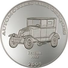 renault congo 10 francs historical cars iii 1922 renault congo pure silver coin