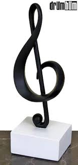 gifts notes treble clef sculpture for musicians gift for