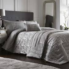 lucien silver woven jacquard duvet cover sets affordable luxury