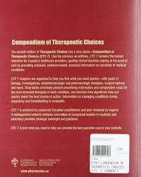 compendium of therapeutic choices canada u0027s trusted reference for