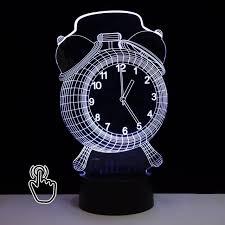 night light alarm clock 3d led hologram illusion night light changing bedroom l alarm