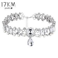vintage crystal choker necklace images 17km boho collar choker water drop crystal beads choker necklace jpg