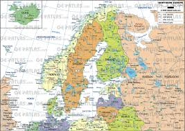 northern map geoatlas continental maps scandinavia and northern europe