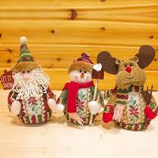 Outdoor Christmas Decorations Discounted by Santa Claus Snow Man Moose Doll Christmas Decorations Xmas