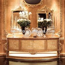 Queen Anne Office Furniture by Queen Anne Style Gold Painting Moon Shaped Office Desk Exquisite