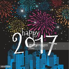 new years cards happy new year card christmas cityscape 2017 fireworks vector