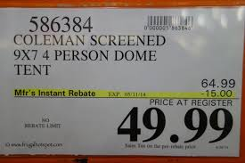costco sale coleman screened 4 person evanston tent 49 99