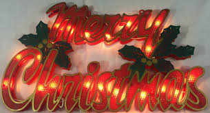 large lighted merry christmas sign holly indoor outdoor decor