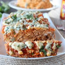 blue cheese buffalo chicken u0026 pork meatloaf recipe