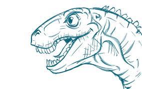 dinosaur head by carlos ortega elizalde creatures 3d cgsociety