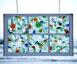 Window Pane Decoration Ideas Sea Glass Window How Awesome Is This I Have Plenty Of Sea Glass