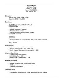 Resume Template For With No Work Experience High Resume With No Work Experience Resume Exles