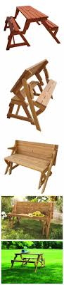 Folding Bench Picnic Table Diy 2 In 1 Convertible Folding Bench And Picnic Table Combo How