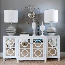 circles white mirrored buffet console from glamfurniture com