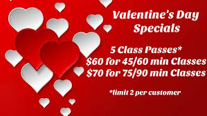 valentines specials s day special on 5 class passes solstice power