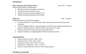 Little Experience Resume Sample Sample Resume For High Graduate With No Work Experience