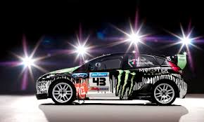 subaru rally drift ken block and new ford fiesta rally car meet it u0027s love at first