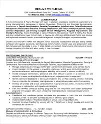 Recruitment Manager Resume Sample by 54 Manager Resumes In Pdf Free U0026 Premium Templates