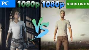 pubg xbox one x graphics pubg insane graphics comparison pc vs xbox one x 1080p youtube