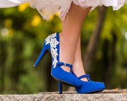 wedding shoes blue blue wedding shoes etsy