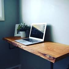 live edge computer desk modern floating desk plans live edge desks and industrial tinyrx co