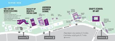 Road Map Of Scotland Maps Contact Find Us Robert Gordon University Rgu Aberdeen