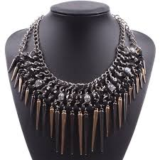 vintage necklace chains images Europe fashion chunky spike pendant 2018 punk style funky chains jpg
