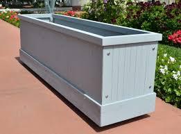backyard long rectangular planter rectangle 8gal grey contemporary