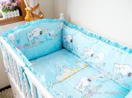 Snoopy Bed Set Snoopy Crib Bedding Sets 100 Cotton Baby Cot Set Blue Cot