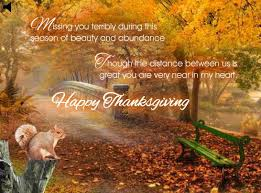 2017 thanksgiving day miss you greeting card image
