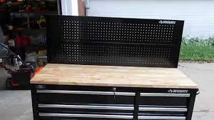 husky 52 in pegboard back wall for tool cabinet review youtube