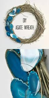 diy agate slice wreath dans le lakehouse