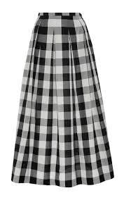Gingham Vs Plaid Vs Tartan Silk Gingham A Line Skirt By Rochas Moda Operandi