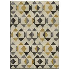 Gray And Yellow Rugs Yellow And Gray Triangles Yellow Area Rug Maples Rugs