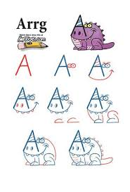 take letters from the alphabet and turn them into monsters