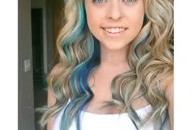 pics of blondes with dark hair underneath 30 pretty blue hairstyles for women pretty designs