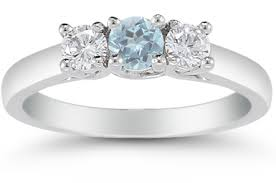 aquamarine and diamond ring three aquamarine and diamond ring 14k white gold