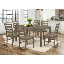 walker edison furniture company homestead 7 piece aged grey wood