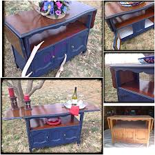 Furniture General Finishes Gel Stain Stain Dark Walnut Wood by Small Buffet Makeover Homemade Chalk Paint Deep Navy Blue