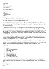 Coaching Resume Softball Coach Cover Letter