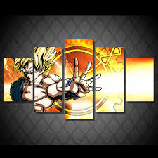 posters for home decor 5 panels large dragon ball hd wall poster for home decoration high