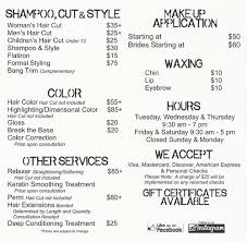 haircut express prices textur hair and colour group