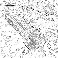alien coloring book features franchise iconic sci