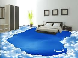 self adhesive wallpaper blue custom 3d floor blue sky and white clouds self adhesive wallpaper