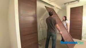SpacePro Sliding door wardrobes  Install track  doors  YouTube