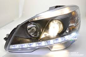 sw light headlights for mercedes c class w204 07 11 led