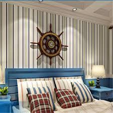 mediterranean style bedroom beibehang papier peint blue non woven wallpaper simple