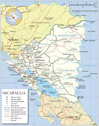 Puerto Rico Road Map by Administrative Map Of Nicaragua Nations Online Project